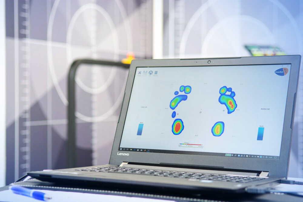 Software zeigt Druckpunkte auf den Füßen an